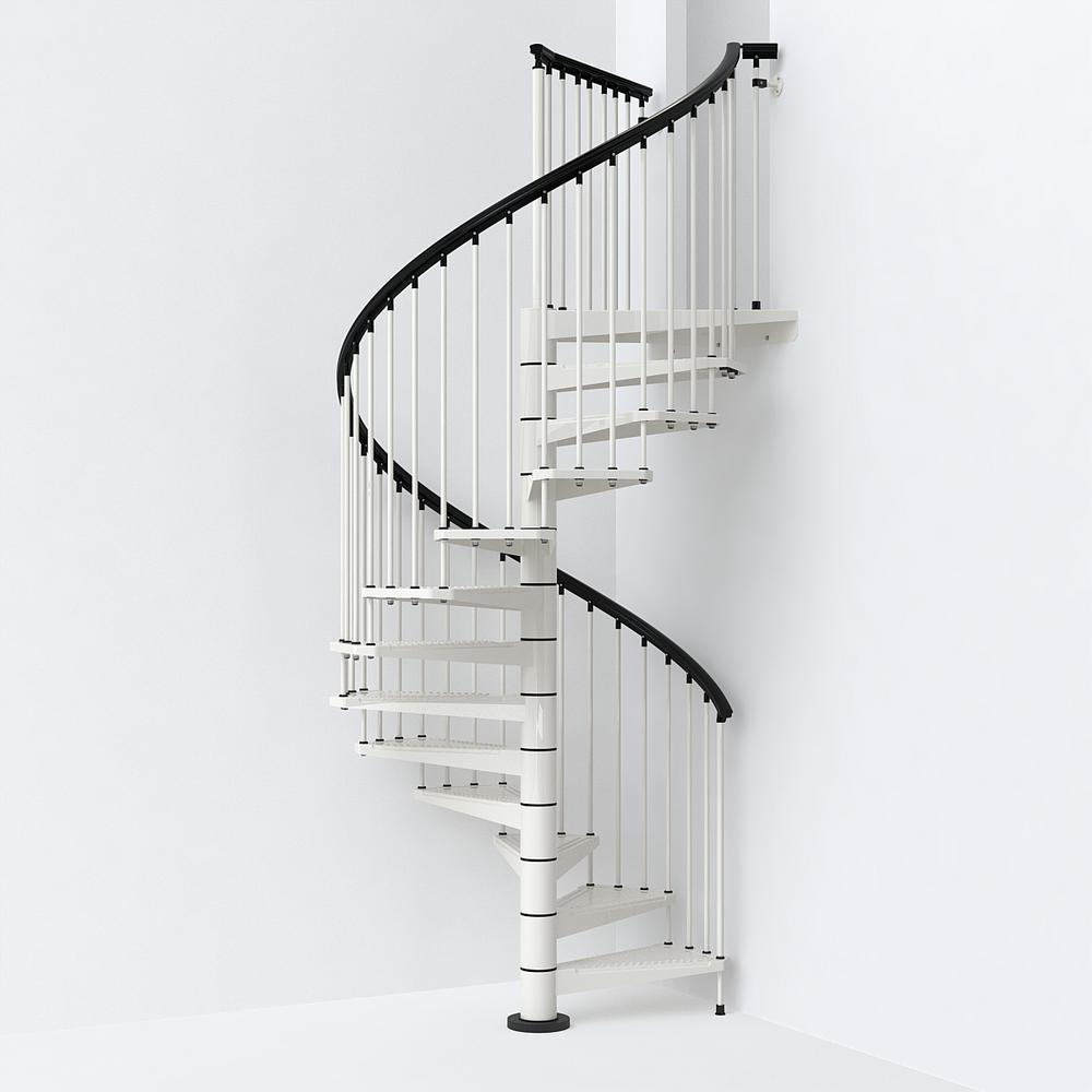 Sky030 63 In White Spiral Staircase Kit K26289 In 2020 Spiral