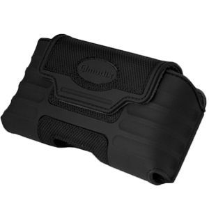 Qmadix Xtreme Horizontal Rubber Carrying Case Xlarge For Sony Ericsson Xperia Ion 4g Lte (att), Black