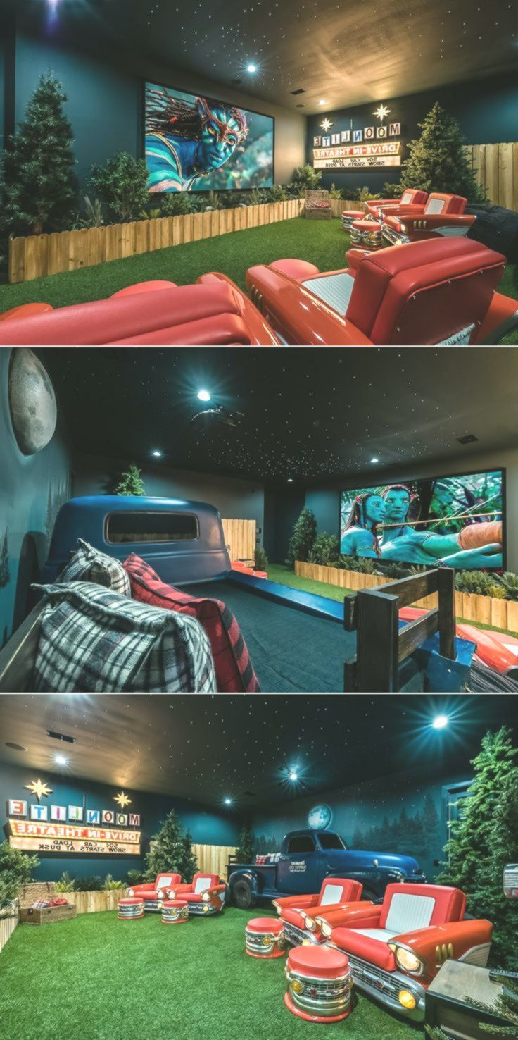 Awesome drivein themed home theater in an orlando