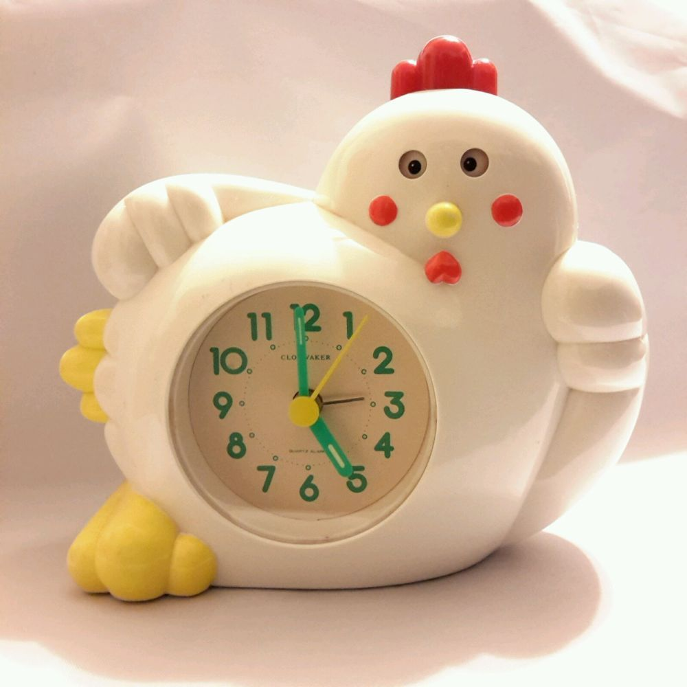 Clokwaker Crowing Rooster Novelty Alarm Clock Says Good Morning Collectibles Clocks Modern 1970 Now Ebay Rooster Alarm Clock Clock Alarm Clock