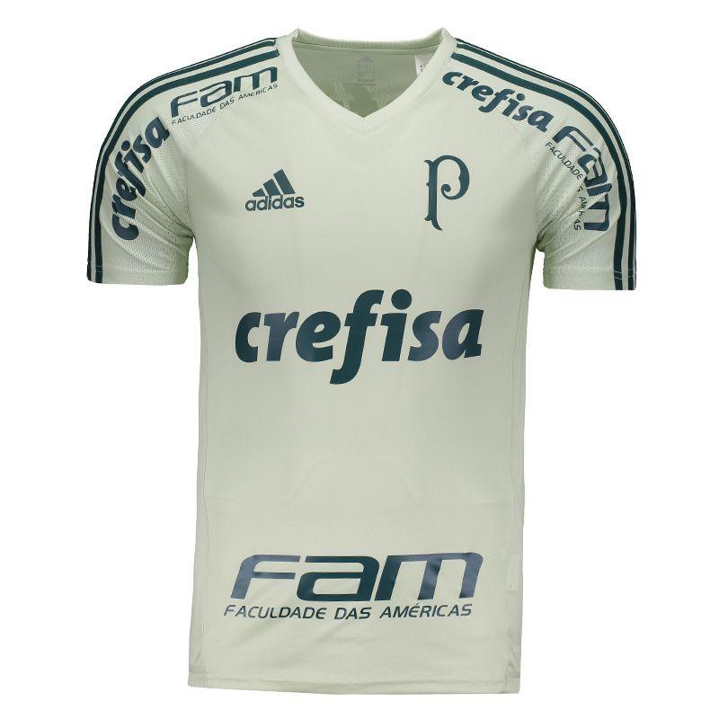 0a90e117c4ad4 Camisa Adidas Palmeiras Treino 2017 Com Patrocínio Somente na FutFanatics  você compra agora Camisa Adidas Palmeiras Treino 2017 Com Patrocínio por  apenas R$ ...