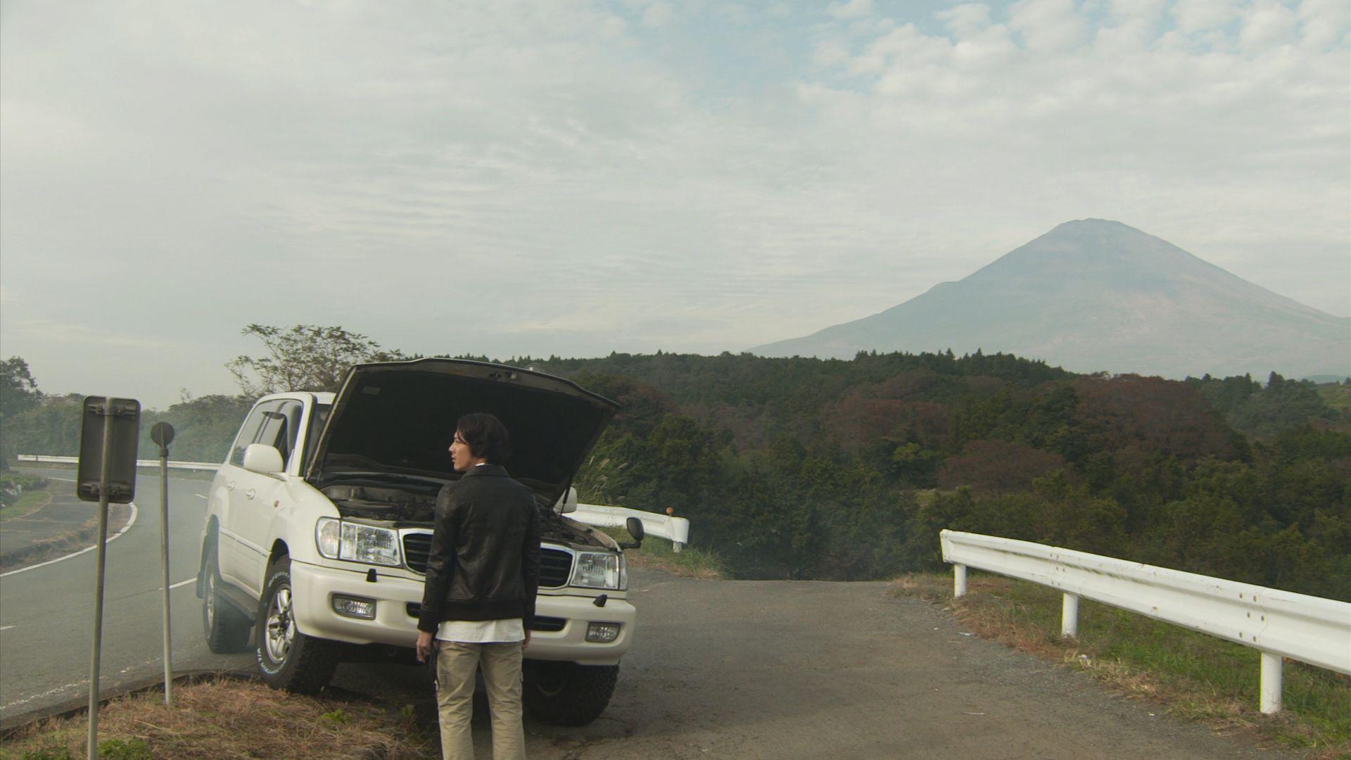 富士山と事故車