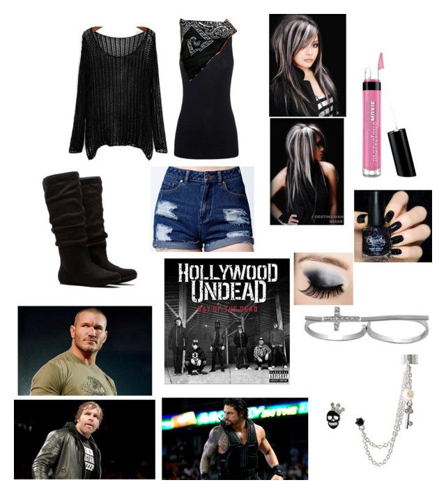 """""""They just might need a little help..."""" by blackandblue7 on Polyvore featuring moda, Juvia, Me to We, Bare Escentuals, Jewel Exclusive, Vanessa Mooney, Betsey Johnson, WWE, badass e faceturn"""