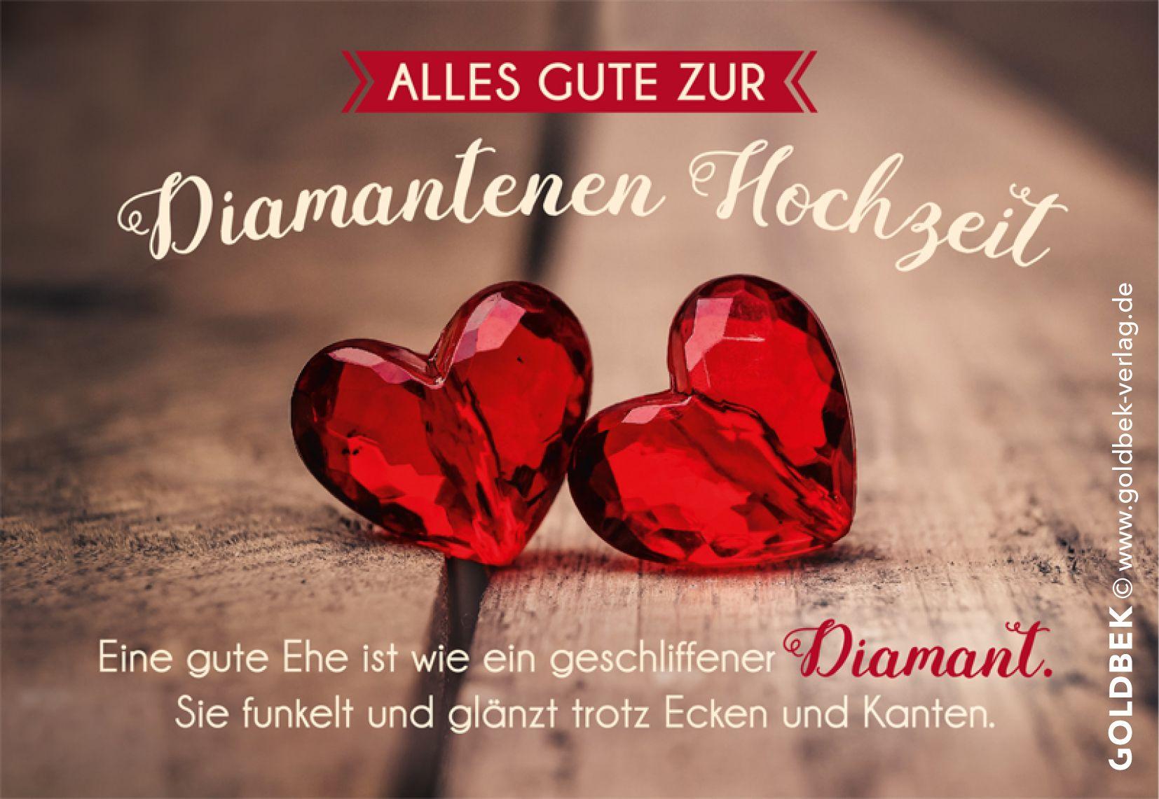 Goldbek Lichtblicke Serie Hochzeitskarte Diamantene Hochzeit Karte Hochzeit Hochzeitskarten