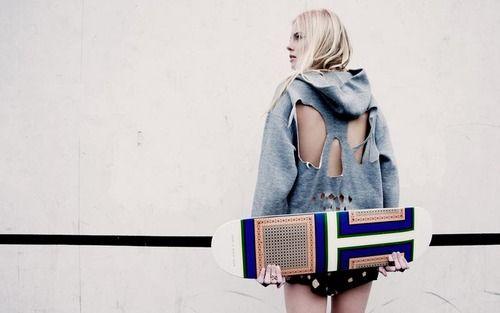 French Voguettes - Celine skateboard