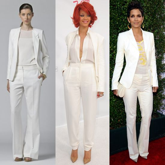 Summer White Suits Popsugar Fashion White Dress Pants Suit Fashion All White Party