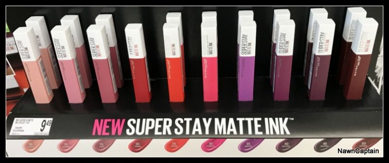 Maybelline Superstay Matte Ink Lip Color Store Display