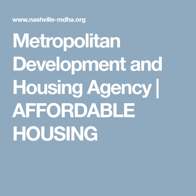 Metropolitan Development And Housing Agency Affordable Housing Affordable Housing Affordable Development