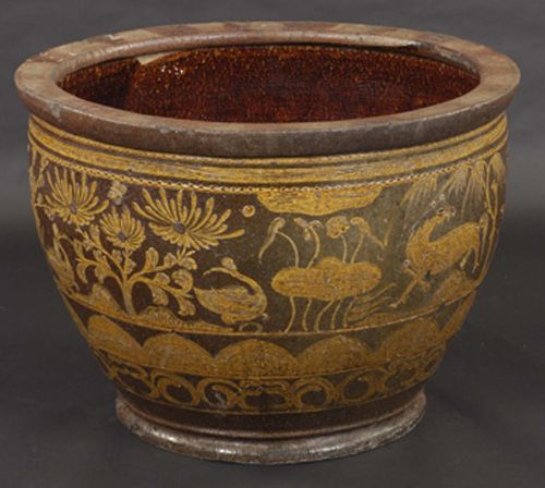 Antique Asian Decor Large Ceramic Pot From China
