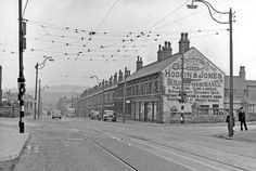 Queen's Road at junction with Shoreham Street and Myrtle Road, Hodkin and Jones Ltd., Building Material Merchants (Havelock Bridge Works), right