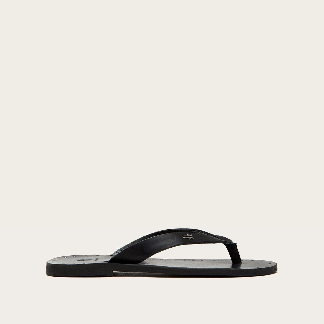 Ally Logo Flip Flop Frye Since 1863 Leather Sandals