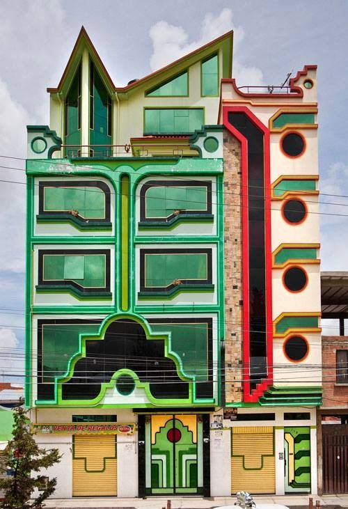 72aa60b46 Cholet (cholo+chalet) by the architect Fredy Mamani. El Alto, Bolivia. Via  populardelujo