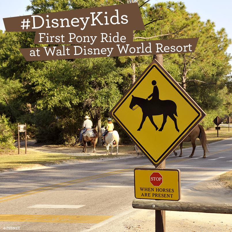 First Pony Ride at Walt Disney World Resort #DisneyKids