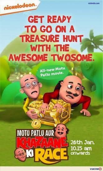 Motu Patlu Aur Khazaane Ki Race 2016 Hindi Movie Dvdrip 720p