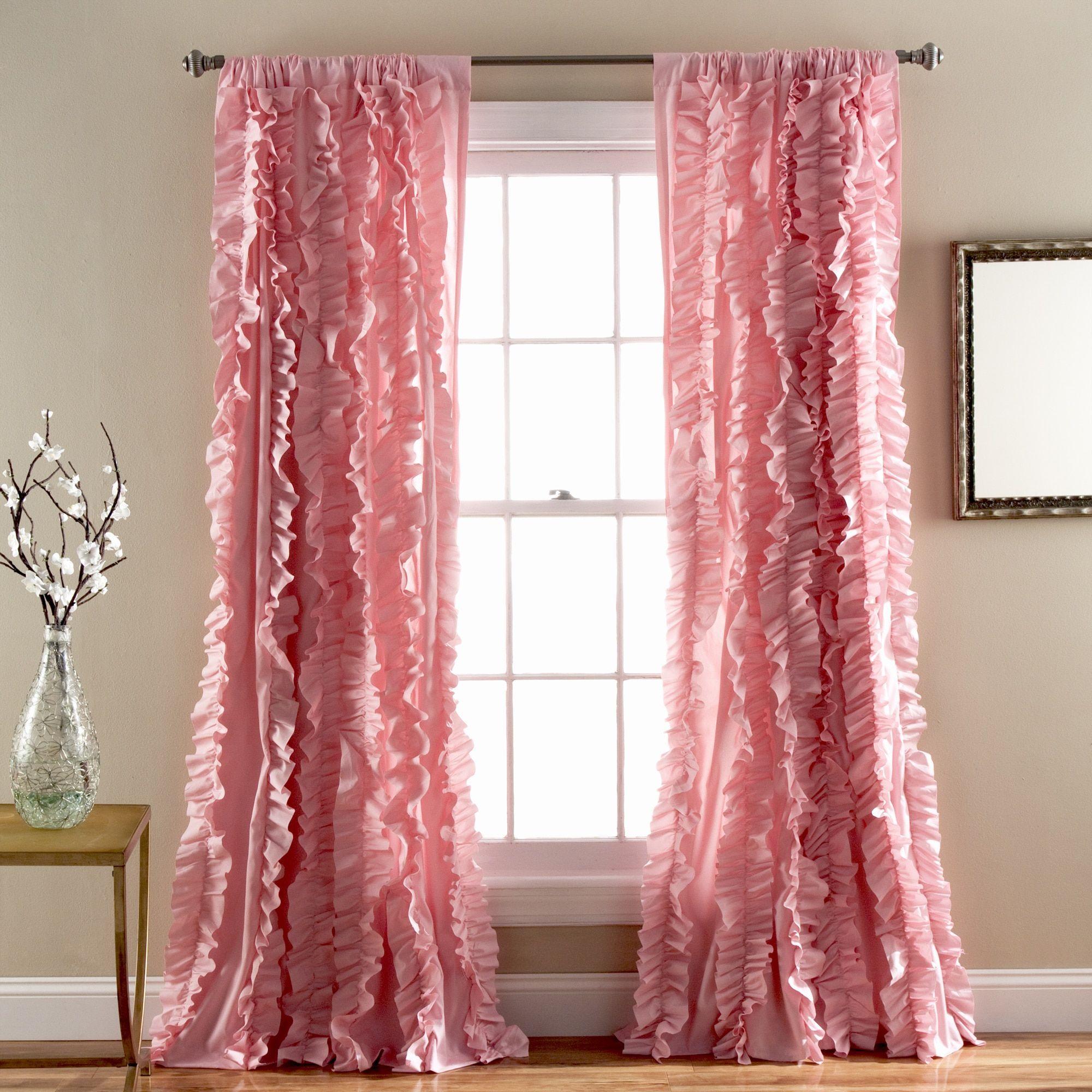 Lush Decor Riley Window Curtain Panel 84 x 54 Blush