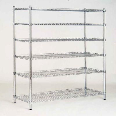 hdx 6 shelf 72 in. h x 48 in. w x 18 in. d wire unit in chrome