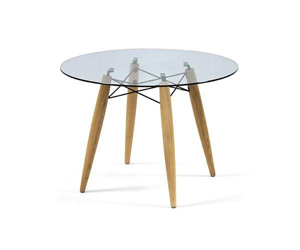 Risultati immagini per tavolo tondo top vetro gambe legno | Home ...