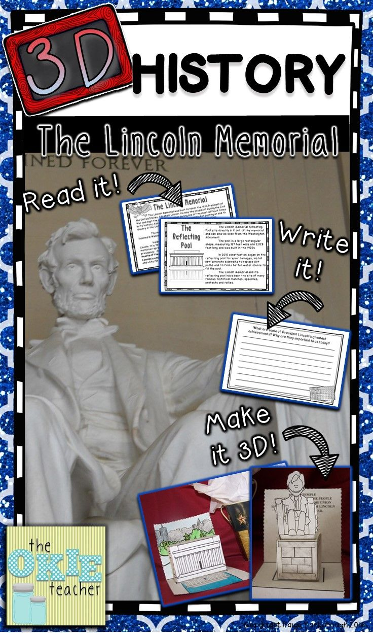Lincoln Memorial 3d History Project Lincoln Memorial Project Teacher Favorite Things Lincoln Memorial [ 1248 x 736 Pixel ]