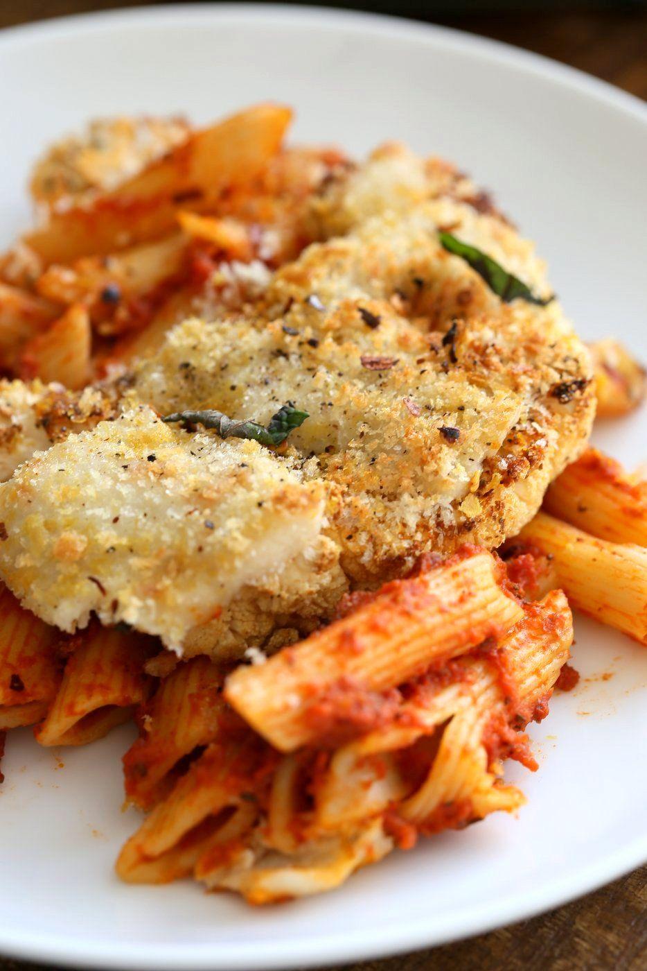Vegan Cauliflower Parmesan Pasta Bake Vegan Richa Recipe Vegan Cauliflower Soy Free Recipes Pasta Dishes