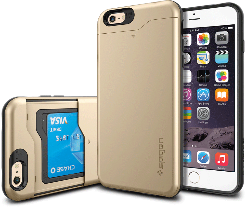 newest 48e0d cb1b5 iPhone 6 plus case with hidden credit card compartment. You can get ...