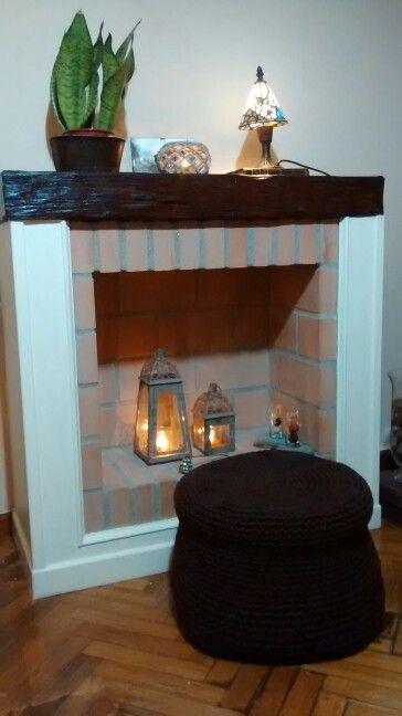 Chimenea decorativa decoracion pinterest chimenea - Hacer chimenea decorativa ...
