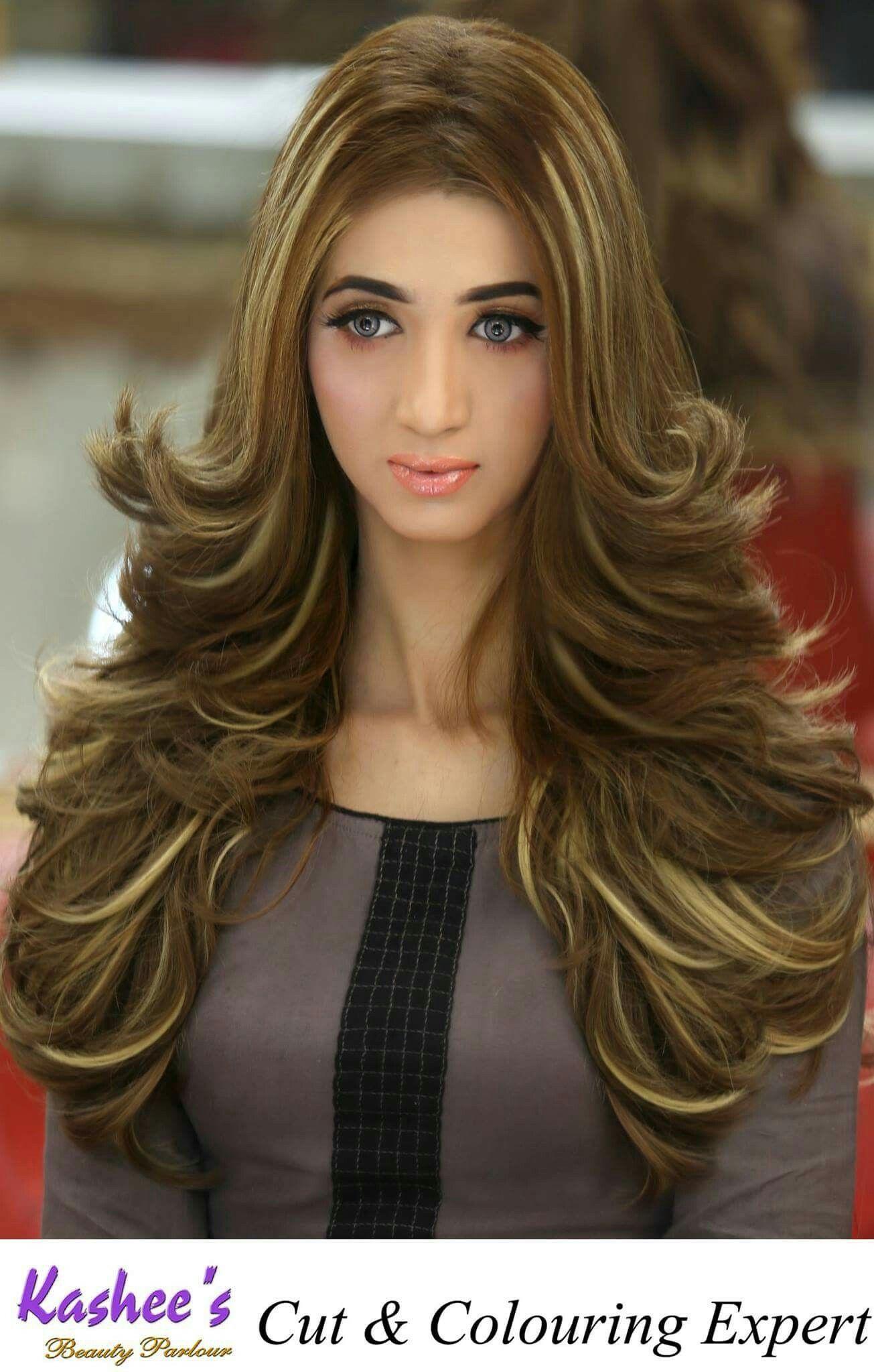 Face Makeup  Hair, Long silky hair, Haircuts for wavy hair
