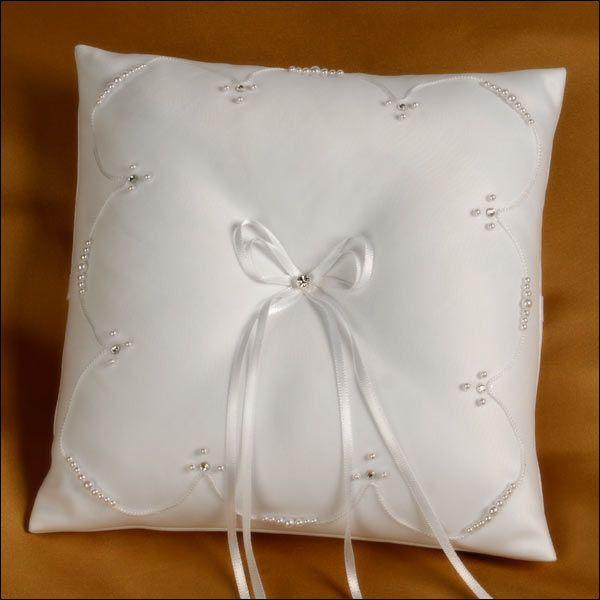Ring Bearer Pillow - Destiny - White & Ring Bearer Pillow - Destiny - White | ring bearer pillow ideas ... pillowsntoast.com