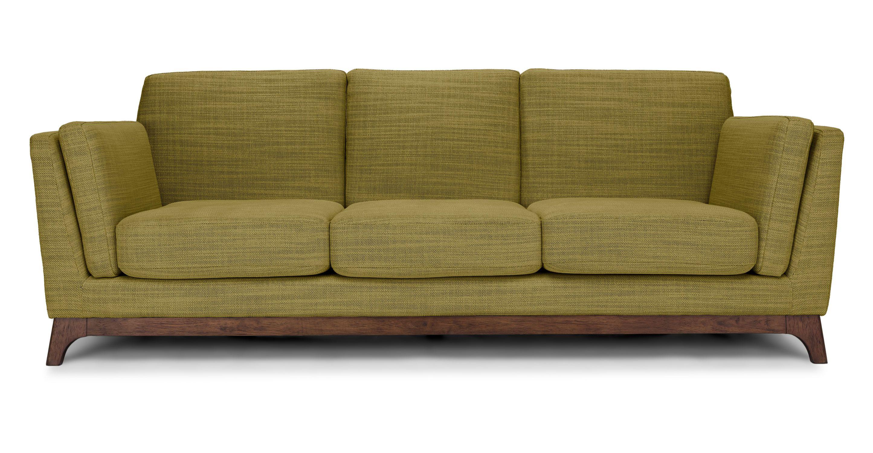 Green Mid Century Modern Sofa