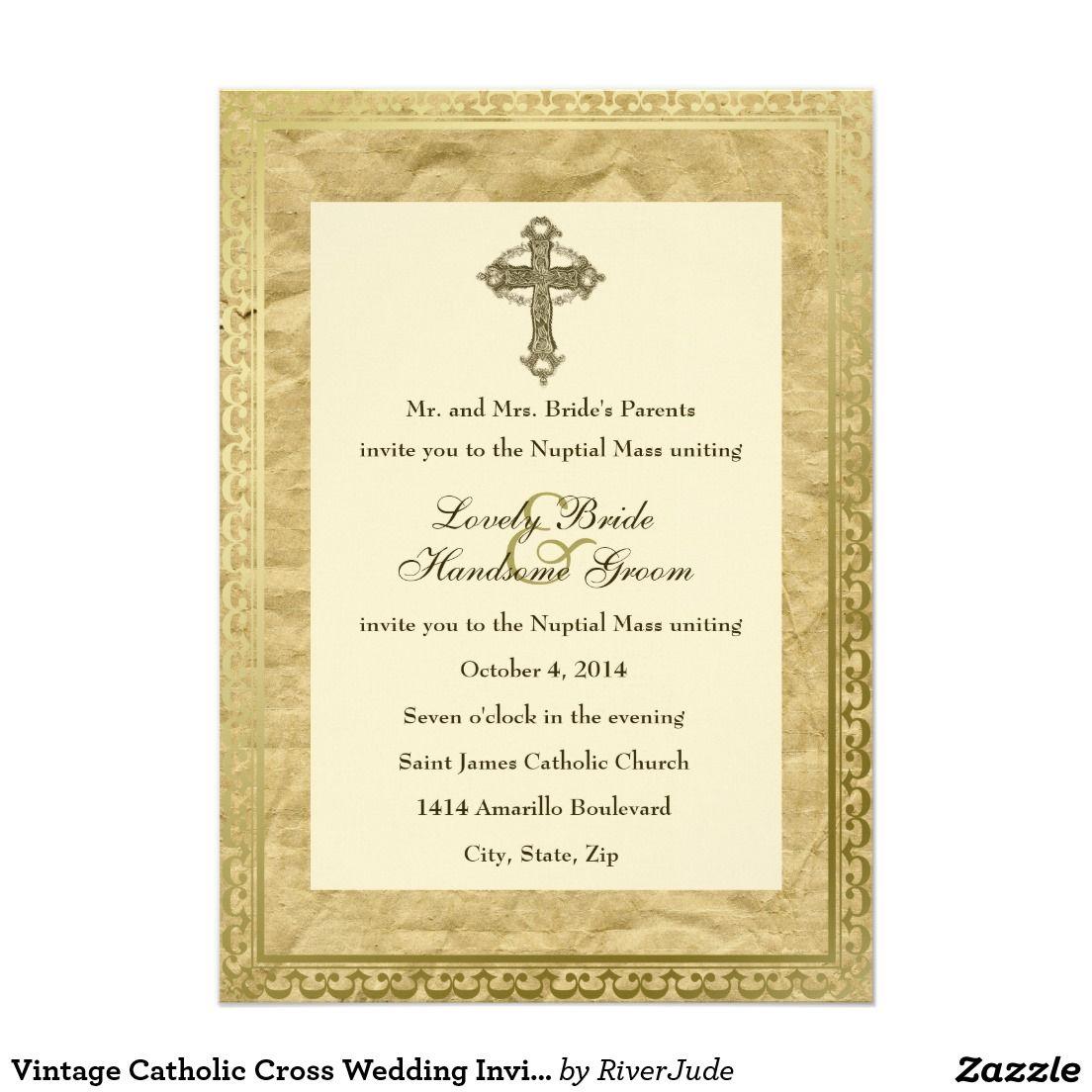Create your own invitation catholic wedding