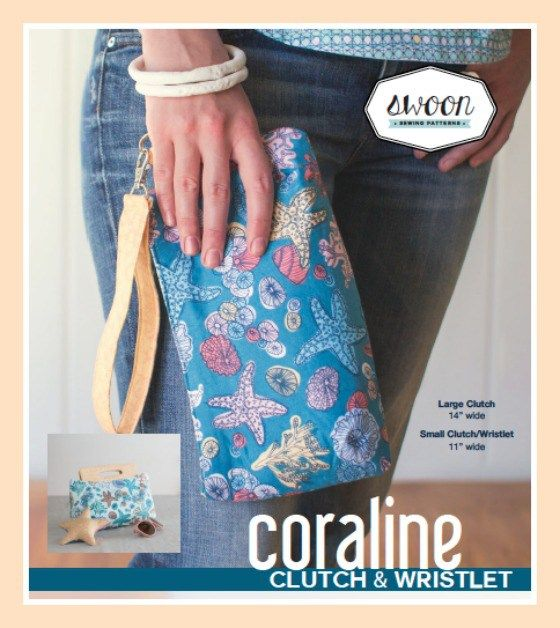 The Coraline Clutch Purse - PDF Sewing Pattern