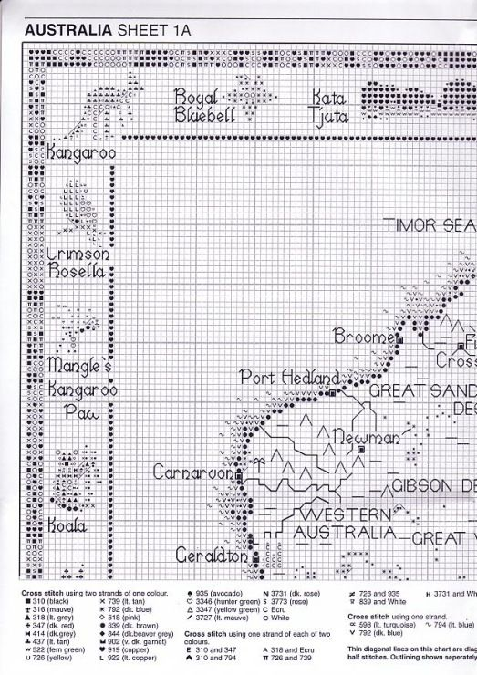 Gallery.ru / Фото #2 - Map of Australia - natalytretyak   cross ...