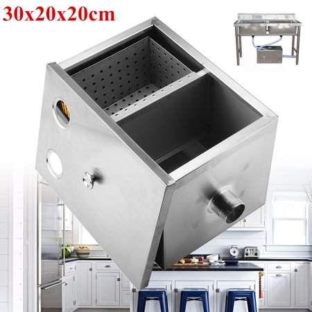 Stainless Steel Grease Trap Interceptor for Restaurant Home Kitchen Wastewater
