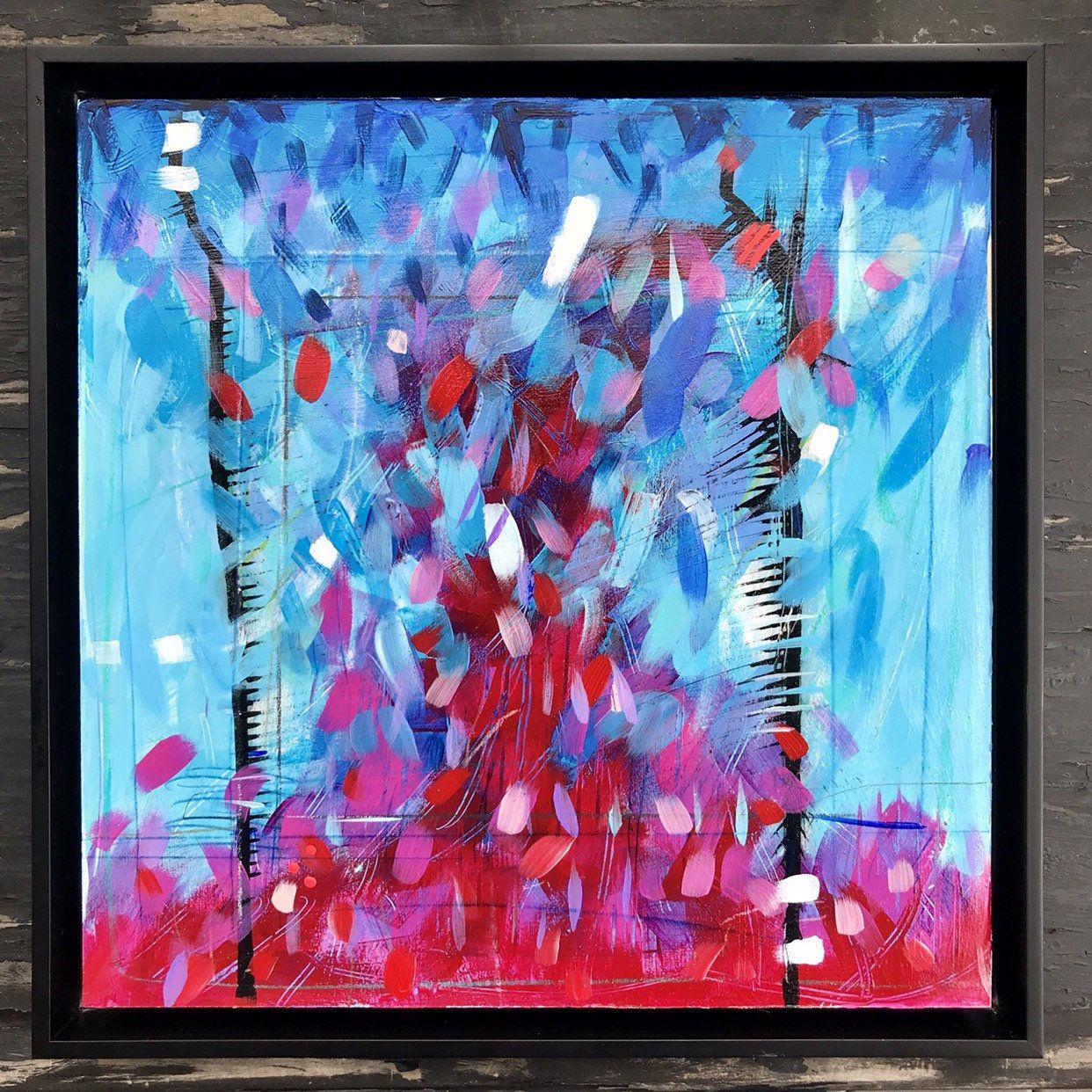 Oil Painting Small Art Square Painting Original Art Etsy Abstract Geometric Art Square Painting Geometric Art