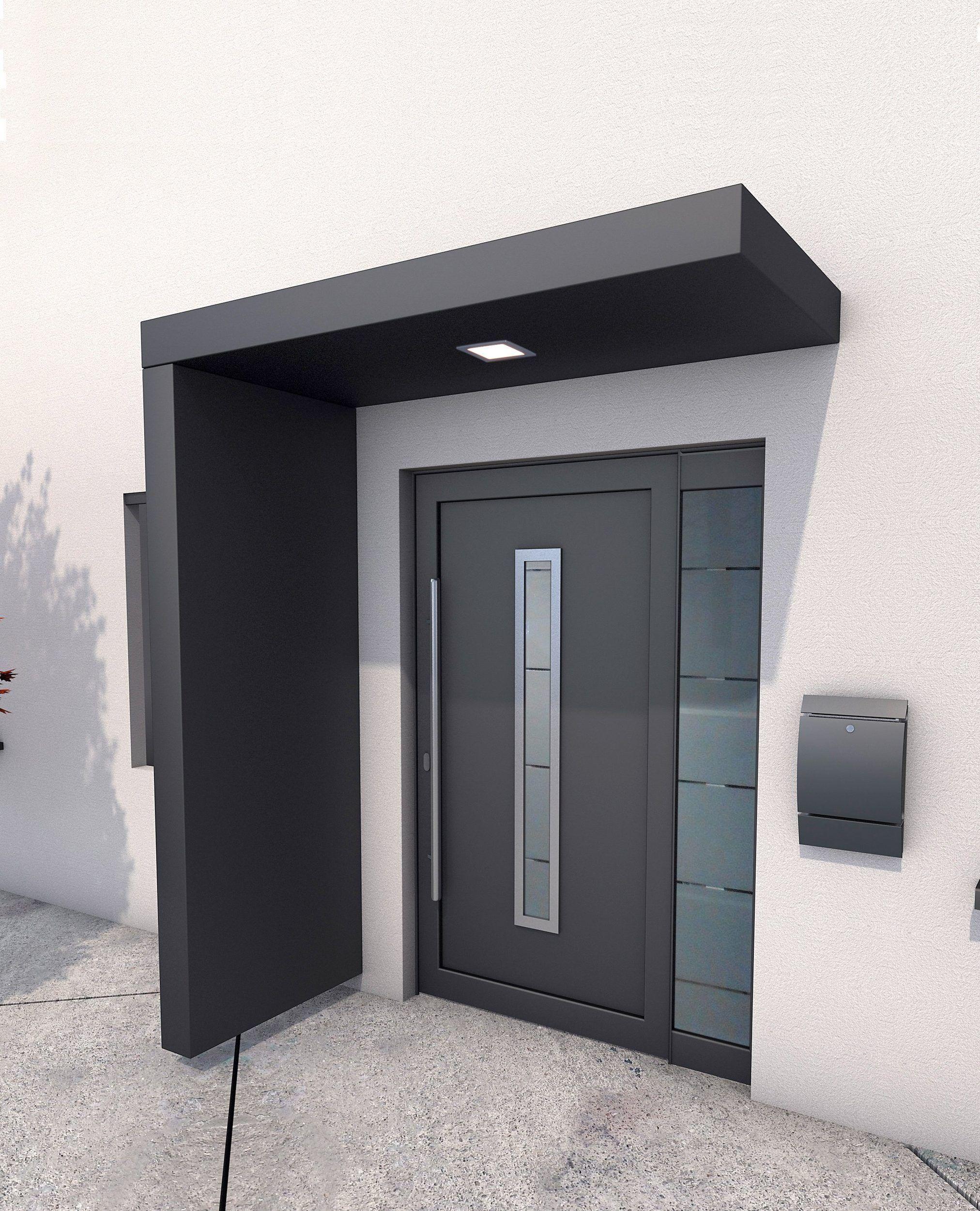 Gutta Vordach Set Bs 200 200 Cm Mit Seitenteil Aluminium Anthrazit Online Kaufen Otto In 2020 Vordach Moderne Eingangstur Moderne Haustur