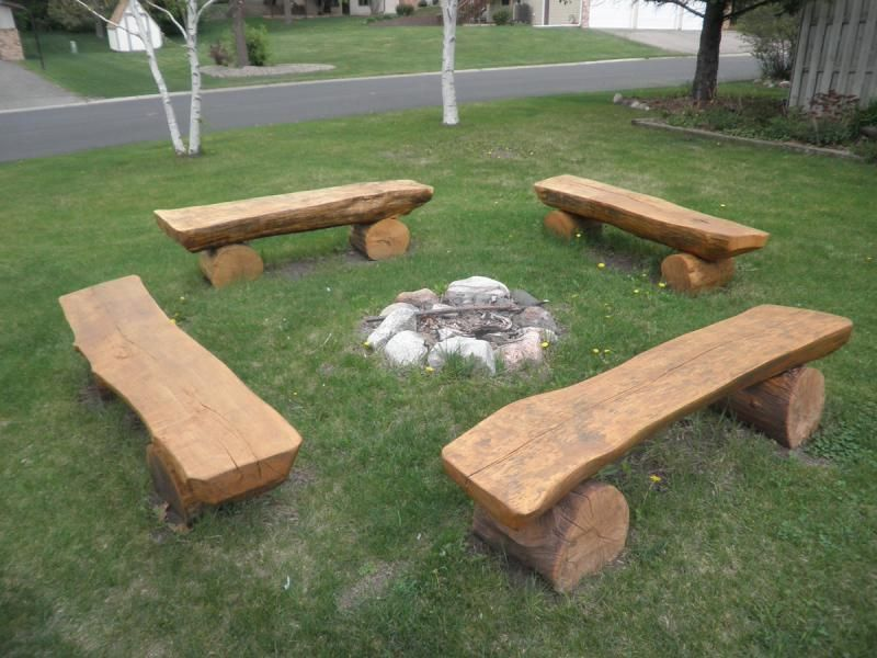 CARVED CHAINSAW BENCHES | Contracting, Inc. - Photos