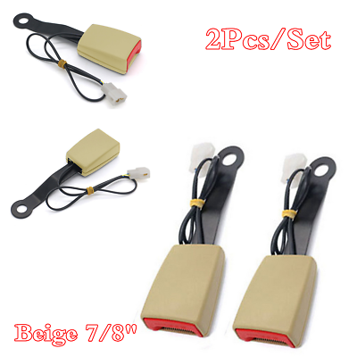 """7//8/"""" Camlock Car Front Seat Belt Buckle Padding Socket Plug Connector With Cable"""
