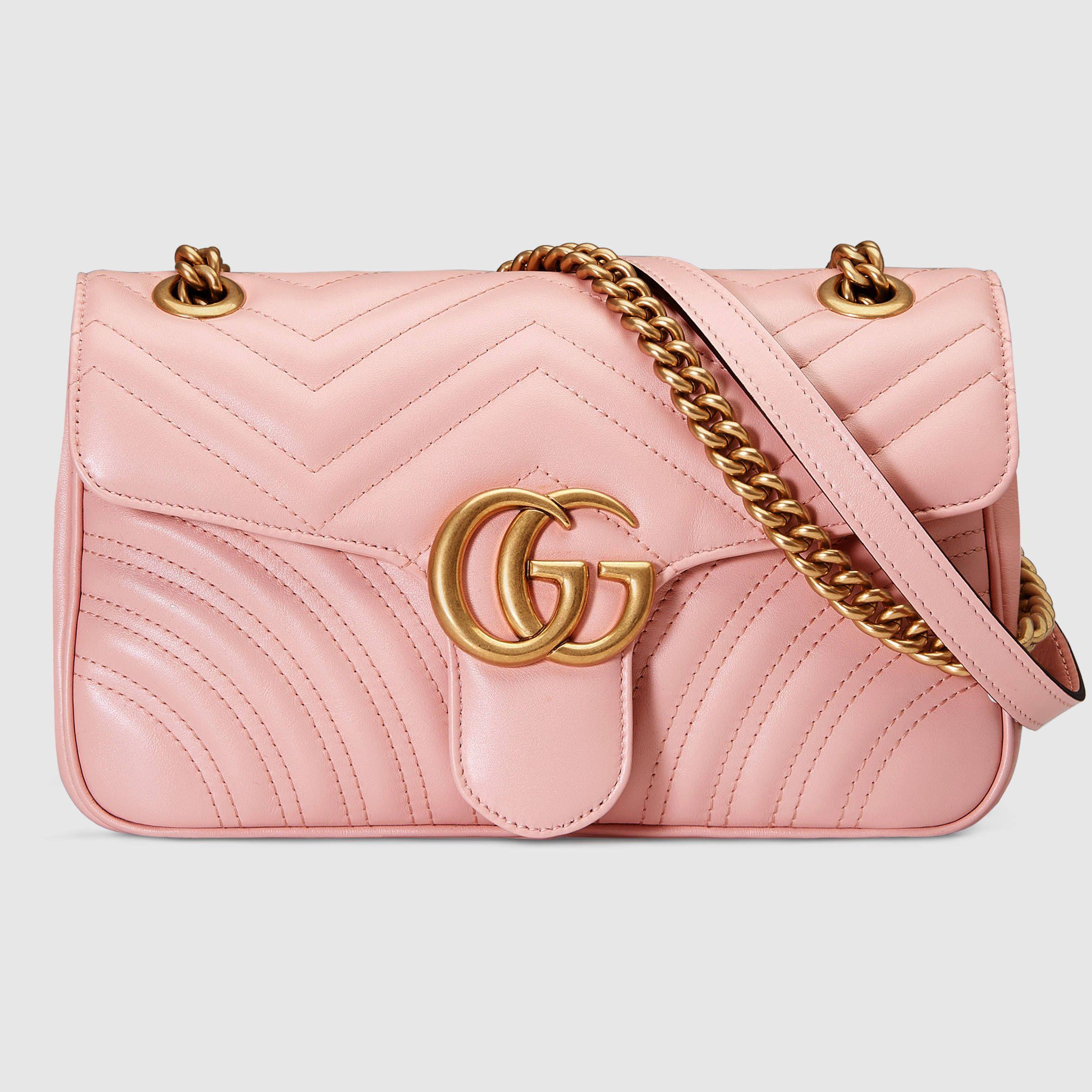 8b5a603eac4 GG Marmont matelassé shoulder bag