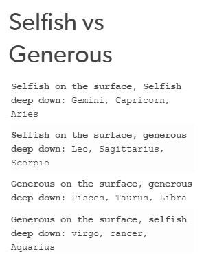 12 zodiac signs selfish vs generous cancer zodiac sign zodiac