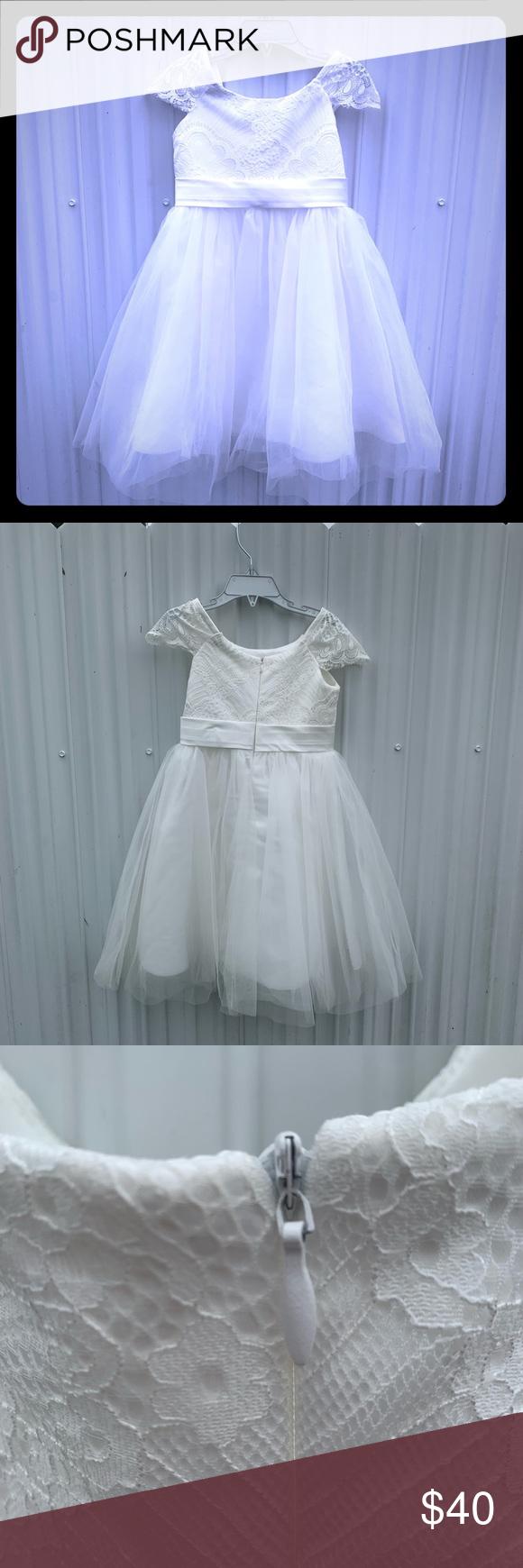 Handmade Flower Girl Dress Size 4t Handmade Flower Girl Dress Flower Girl Dresses Dresses [ 1740 x 580 Pixel ]