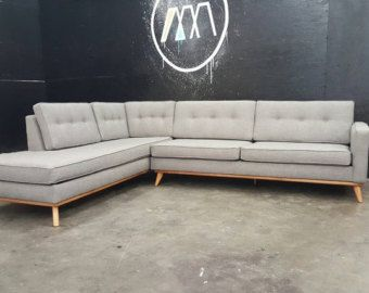 mid century modern danish sofa sectional chaise reversible to both rh pinterest com t&d furniture pearl ms t&d furniture pearl ms