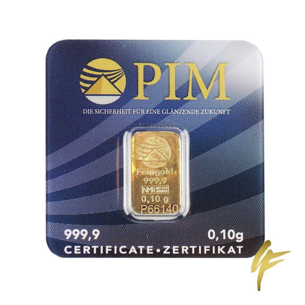 3x Goldbarren 01 Gramm 9999 Feingold Pim 010 G Gold Münze Lbma