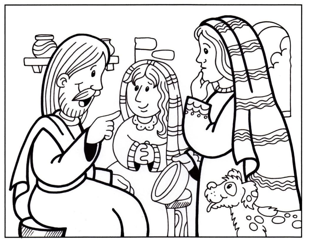 Pin by shannon warren on christian coloring pages nt mary