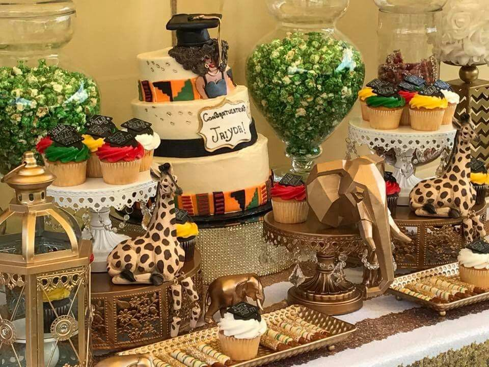 Adrianne Ruff Did A Coming To America Themed Baby Shower She Is Phenomenal She Does Baby Shower Safari Theme African Party Theme Coming To America Party Theme
