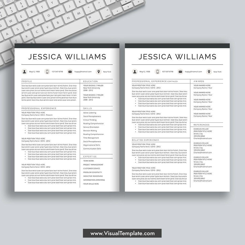 Creative Resume Template, Professional Resume Design