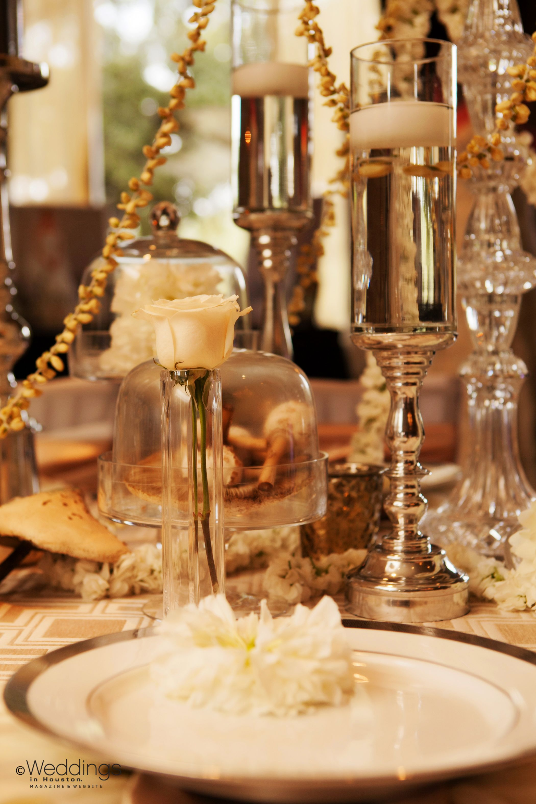 Perfect tablescapes for a winter wedding white, cream