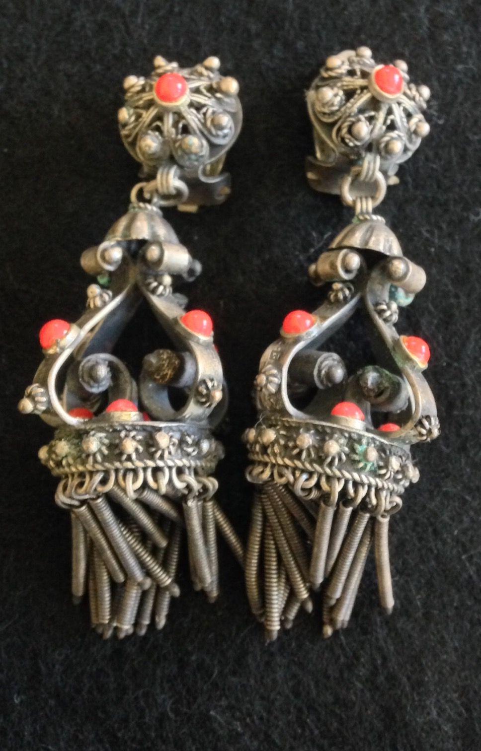 Vintage Tribal Indian Earrings