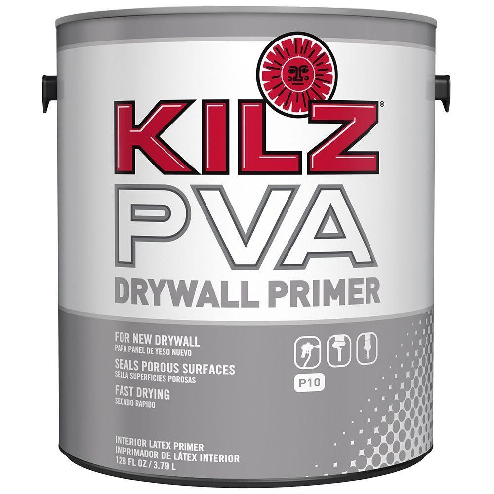 Kilz Pva 1 Gal White Interior Drywall Primer Px01001 Home Depot Interior Primer