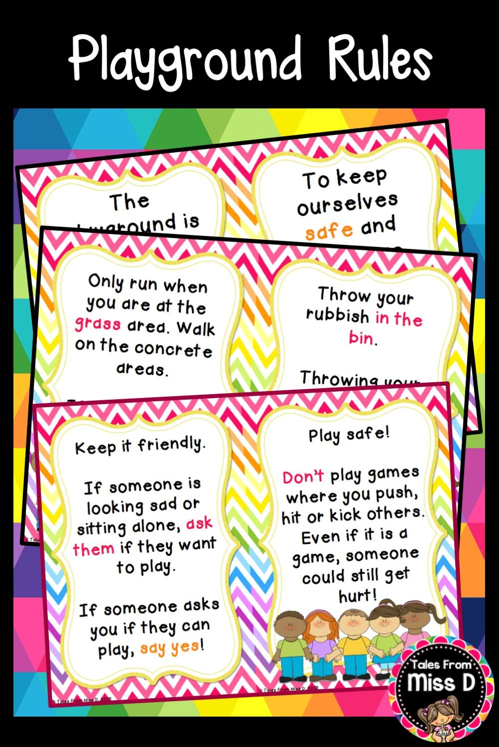 This Social Skills Playground Rules Reader Will Teach Your Students About Playing Safely In The Playground A Great Social Skills Playground Rules Playground [ 1497 x 1000 Pixel ]