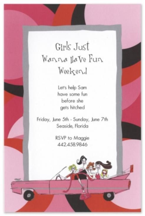 Girls Night Invitation Wording Day Of Placing Your Order Approval