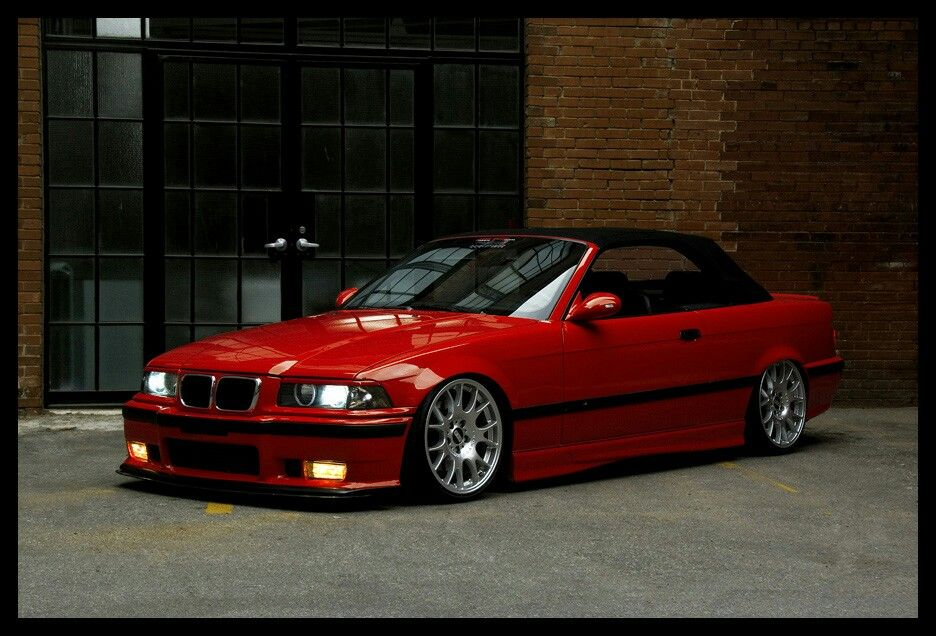 Bmw E36 M3 Convertible Hellrot Red Imports Bmw E36 Bmw Bmw M3